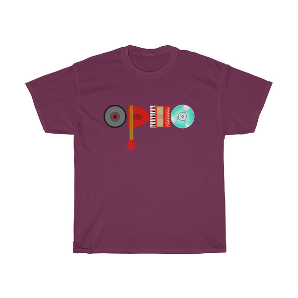 opho Musical Instruments Unisex Classic Fit T-Shirt Red