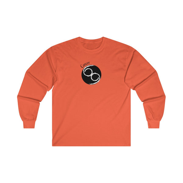 Cancer Zodiac Mens Classic Fit Long Sleeves T-Shirt Orange