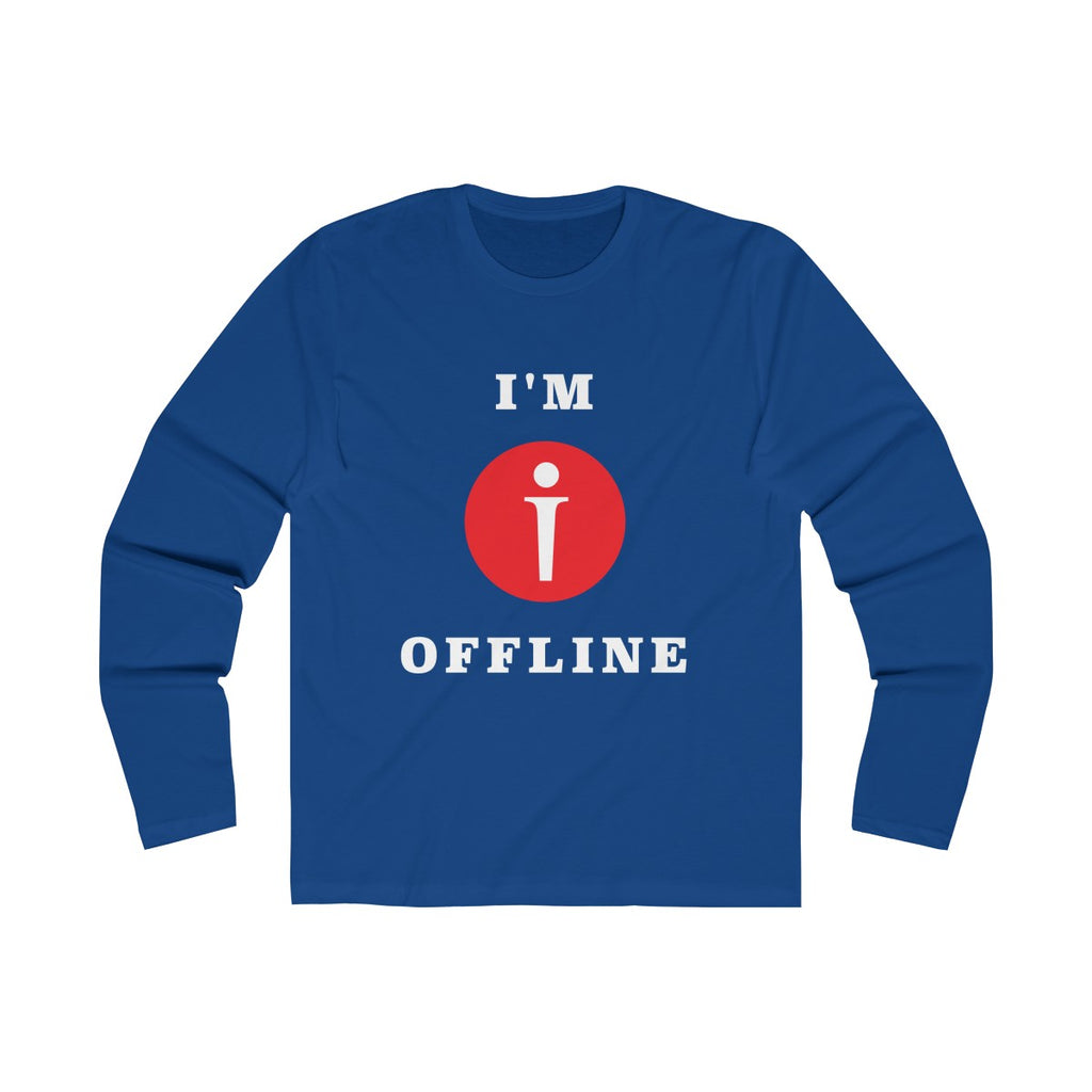 I am Offline Mens Slim Fit Long Sleeves T-Shirt