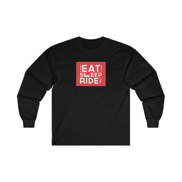 Eat Sleep Ride Mens Classic Fit Long Sleeves T-Shirt Black