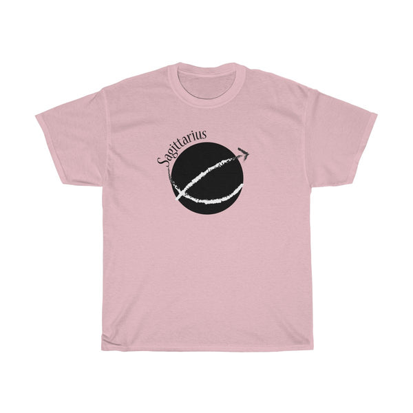 Sagittarius Zodiac Unisex Classic Fit T-Shirt (Light Colors) Pink
