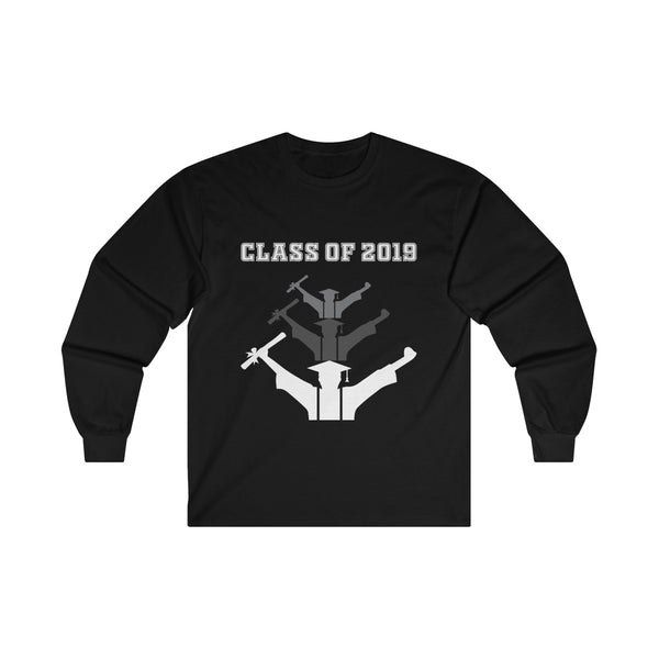Class of 2019 Exhilarated Grads  Men's Classic Fit Long Sleeves T-Shirt Black