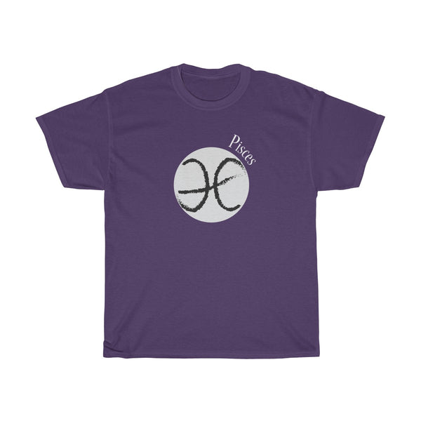 Pisces Zodiac Unisex Classic Fit T-Shirt (Dark Colored) Purple