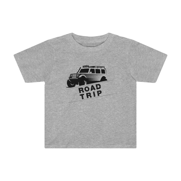 Road Trip Toddler Fitted T-Shirt Gray