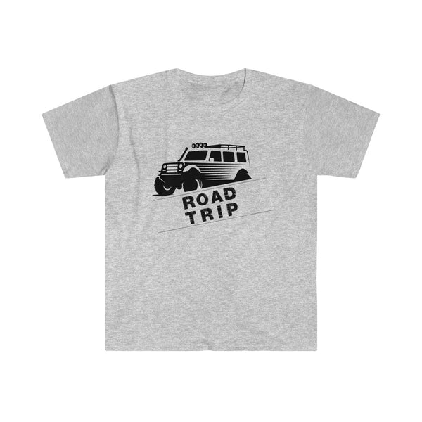 Road Trip Mens Eurofit Short Sleeve T-Shirt Gray