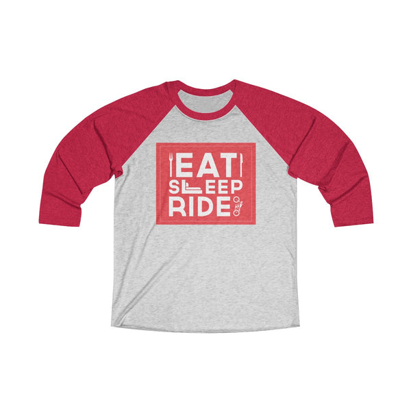Eat Sleep Ride Unisex Raglan T-Shirt Red