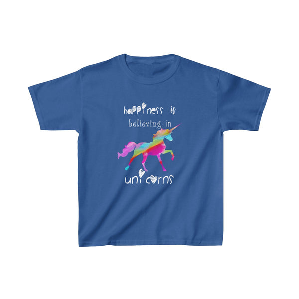 Colored Unicorn Happiness Kids Classic Fit T-Shirt