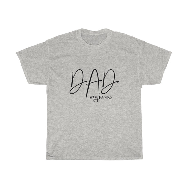 Dad My Hero Without Moustache Mens Classic Fit T-Shirt (Light Colored) Gray