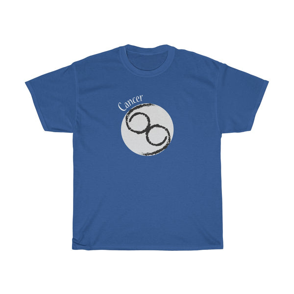Cancer Zodiac Unisex Classic Fit T-Shirt (Dark Colors) Blue