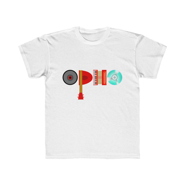 opho Musical Instruments Kids Regular Fit T-Shirt White