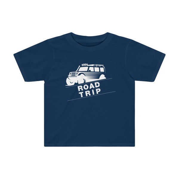 Road Trip Toddler Fitted T-Shirt Navy
