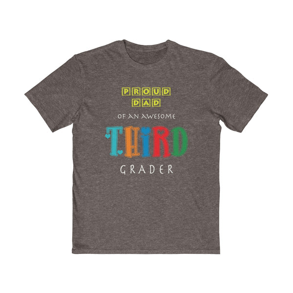Proud Dad of Awesome Third Grader Mens Semi Slim Fit T-Shirt
