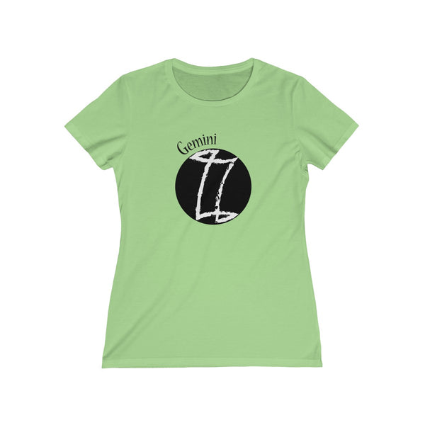 Gemini Zodiac Womens Feminine Fit T-Shirt Green