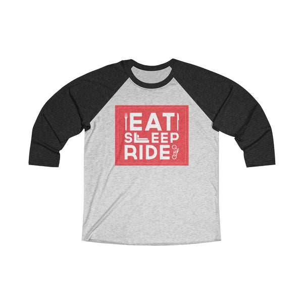 Eat Sleep Ride Unisex Raglan T-Shirt Black