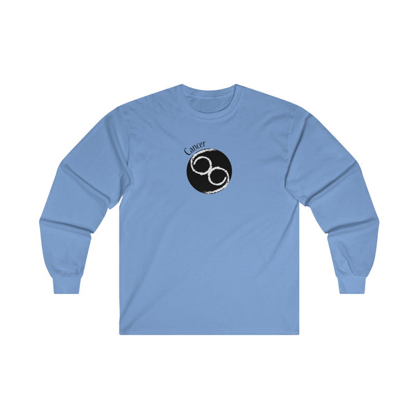 Cancer Zodiac Mens Classic Fit Long Sleeves T-Shirt Blue