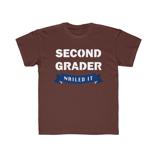 School Second Grade Kids Regular Fit T-Shirt