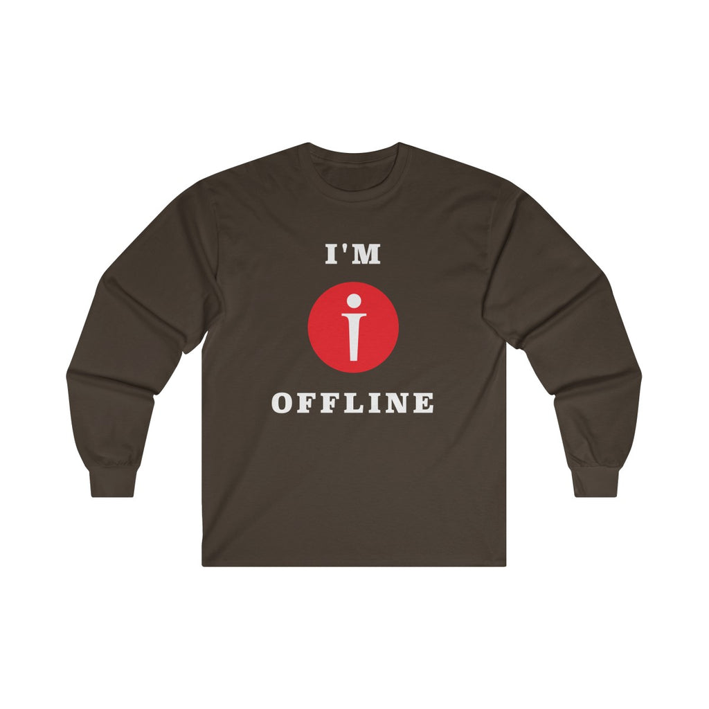 I am Offline Mens Classic Fit Long Sleeves T-Shirt