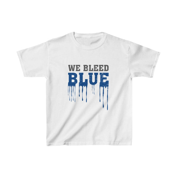 We Bleed Blue Kids Classic Fit T-Shirt White