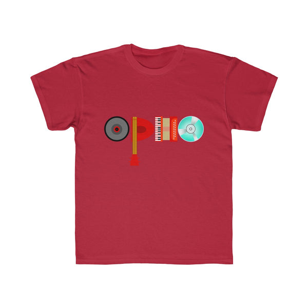 opho Musical Instruments Kids Regular Fit T-Shirt Red