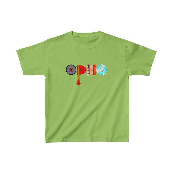 opho Musical Instruments Kids Classic Fit T-Shirt Green