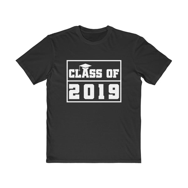 Class of 2019 Graduation Hat  Men's Semi Slim Fit T-Shirt Black