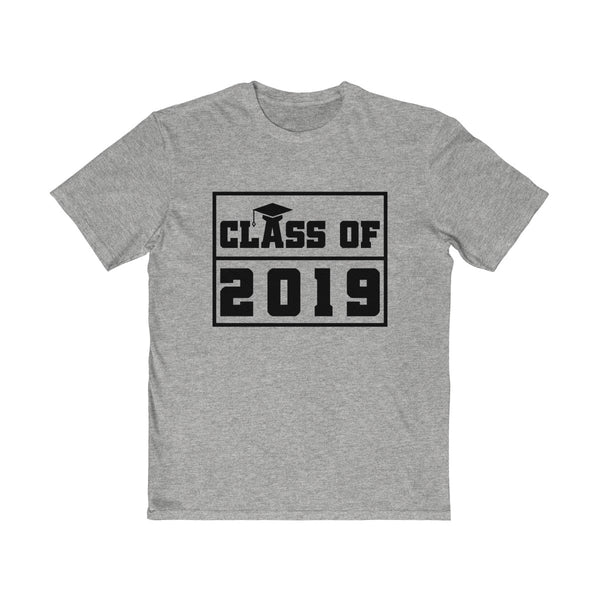 Class of 2019 Graduation Hat  Men's Semi Slim Fit T-Shirt Gray