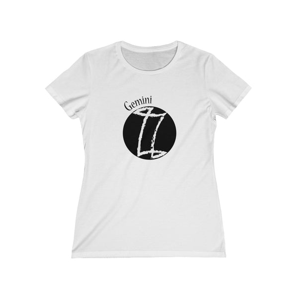 Gemini Zodiac Womens Feminine Fit T-Shirt White