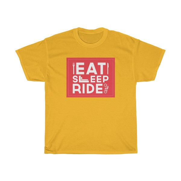 Eat Sleep Ride Unisex Classic Fit T-Shirt Yellow