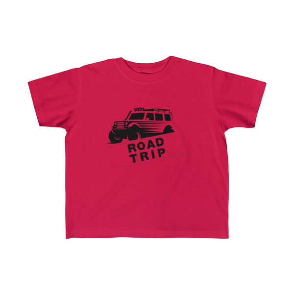 Road Trip Toddler Classic Fit T-Shirt Red