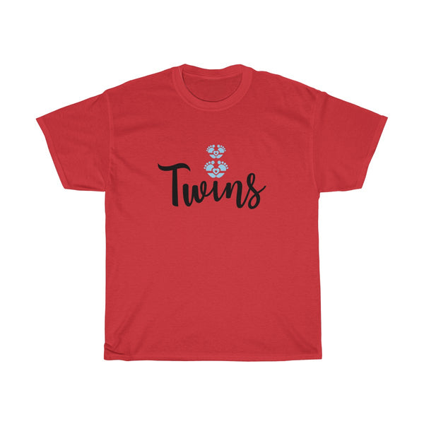 Twin Boys Womens Classic Fit T-Shirt Red