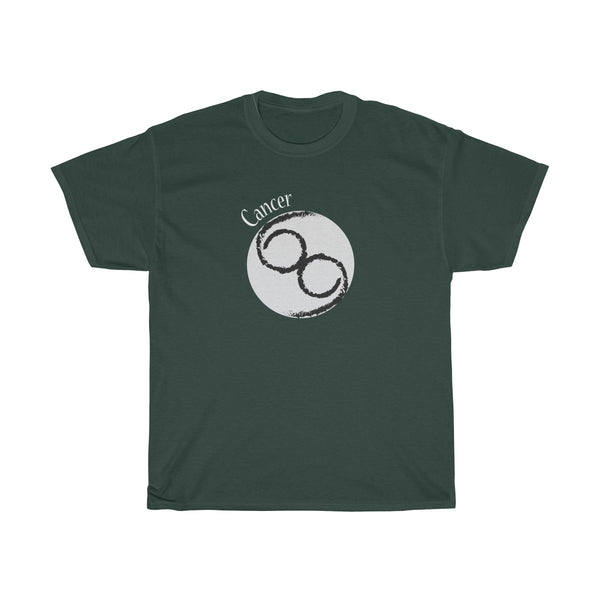 Cancer Zodiac Unisex Classic Fit T-Shirt (Dark Colors) Green