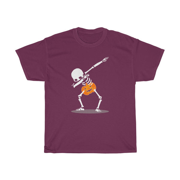 Halloween Dabbing With Pumpkin T-Shirt Red