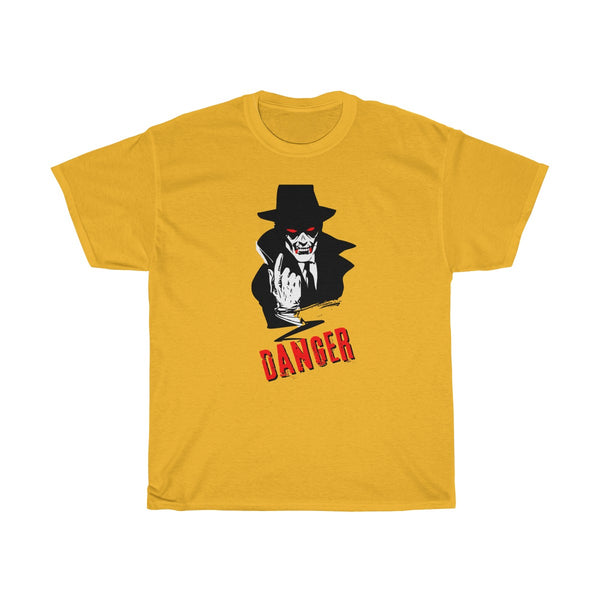 Halloween Vampire Danger T-Shirt Yellow