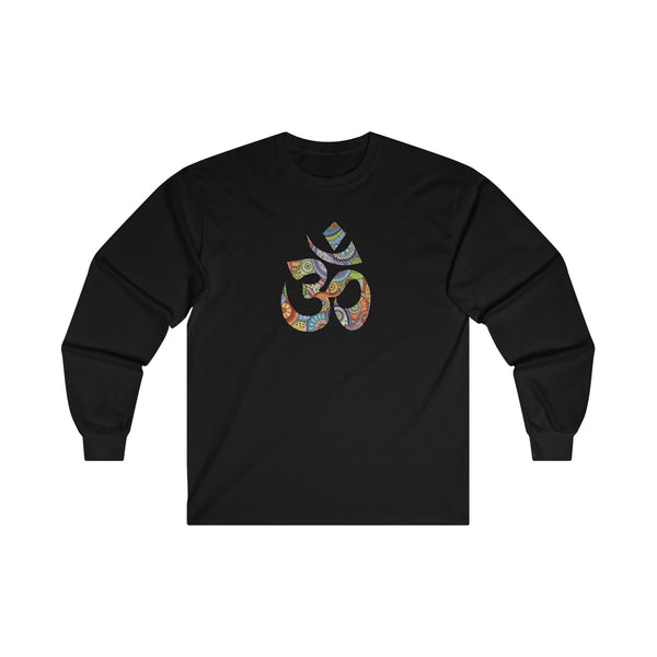 Colorful Hand Drawn Om Symbol Men's Classic Fit Long Sleeves T-Shirt