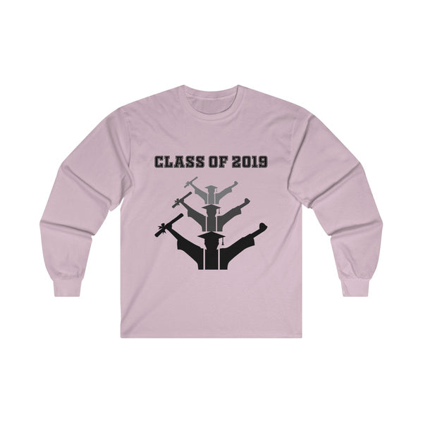 Class of 2019 Exhilarated Grads  Men's Classic Fit Long Sleeves T-Shirt Pink