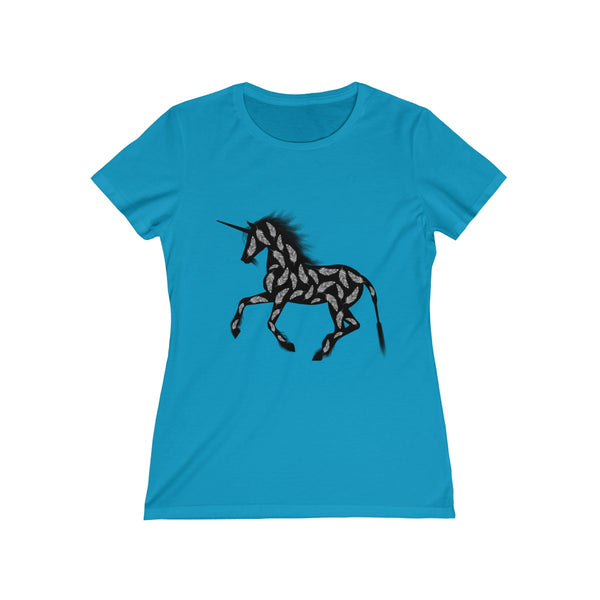 Feather Unicorn Womens Feminine Fit T-Shirt