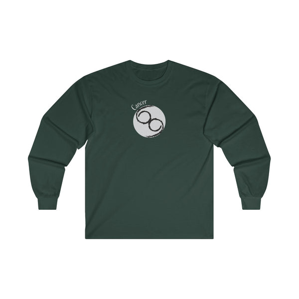 Cancer Zodiac Mens Classic Fit Long Sleeves T-Shirt Green