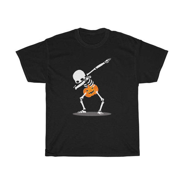 Halloween Dabbing With Pumpkin T-Shirt Black