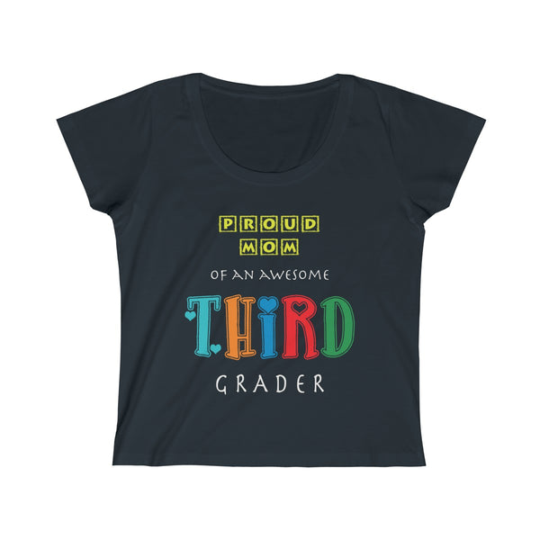 Proud Mom of Awesome Third Grader Women's Scoop Neck Tee