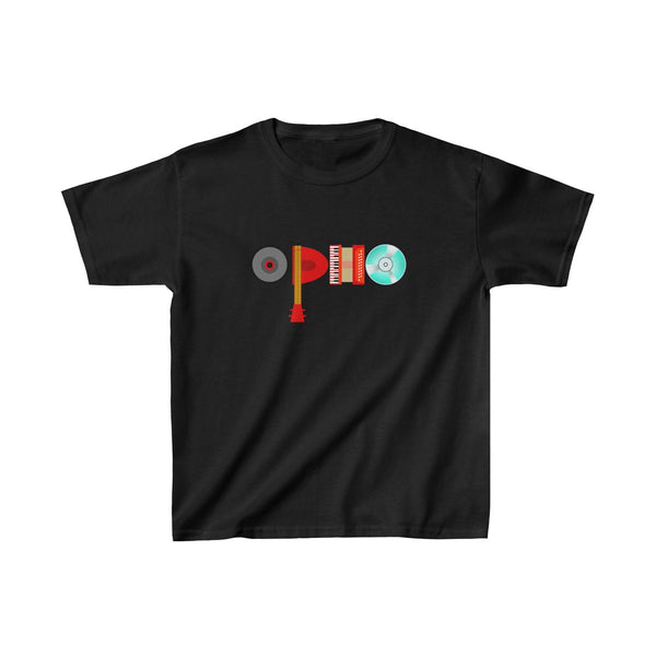 opho Musical Instruments Kids Classic Fit T-Shirt Black