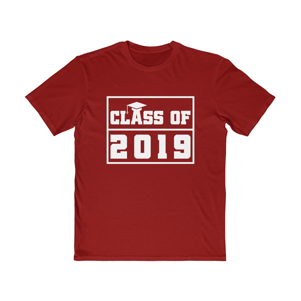 Class of 2019 Graduation Hat  Men's Semi Slim Fit T-Shirt Red