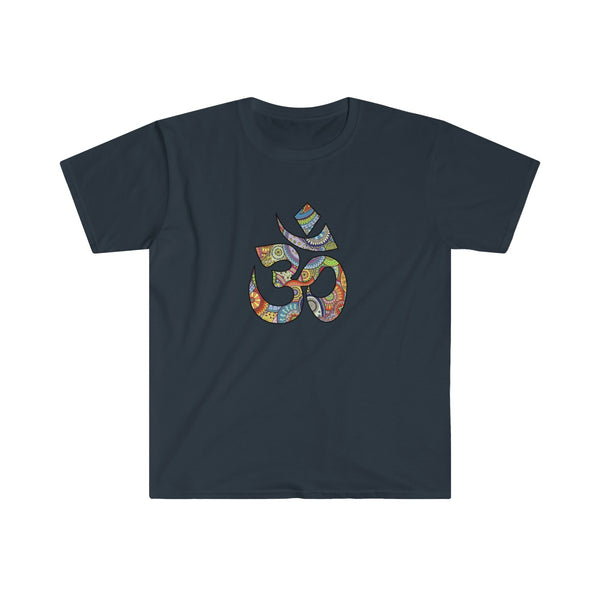 Colorful Hand Drawn Om Symbol Men's Eurofit Short Sleeve T-Shirt