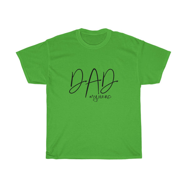 Dad My Hero Without Moustache Mens Classic Fit T-Shirt (Light Colored) Green