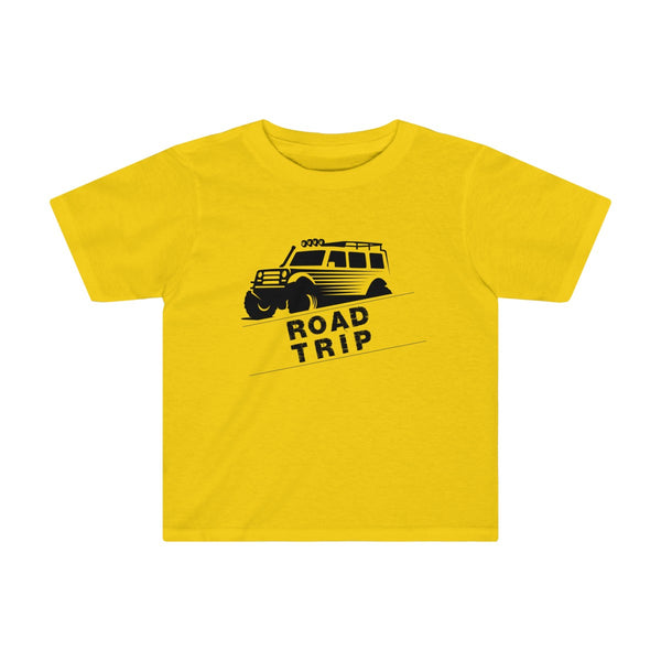 Road Trip Toddler Fitted T-Shirt Yellow