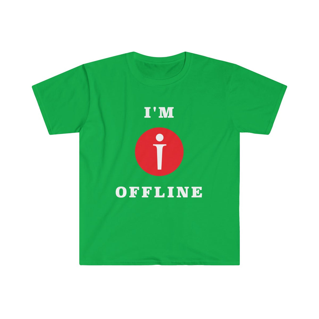 I am Offline Mens Eurofit Short Sleeve T-Shirt