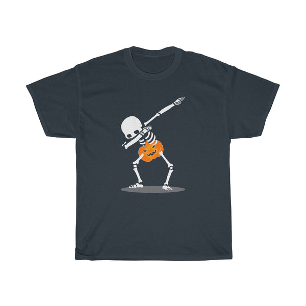Halloween Dabbing With Pumpkin T-Shirt Navy
