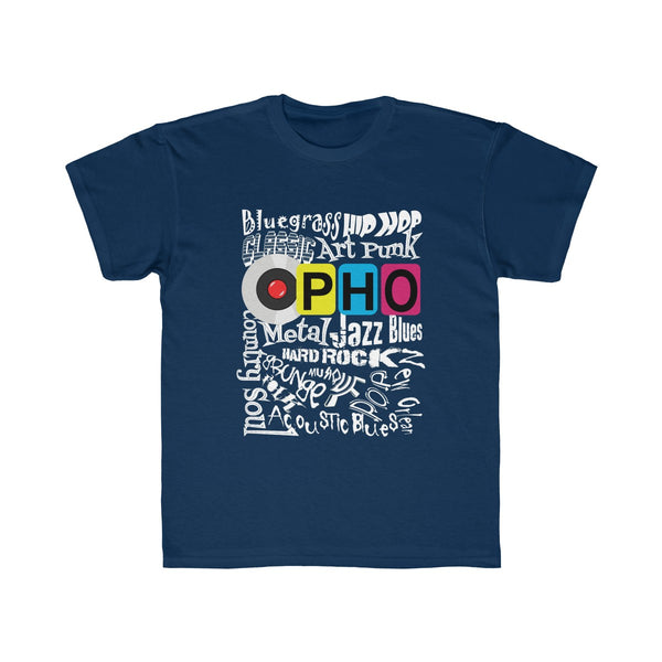 opho Music Genre Kids Regular Fit T-Shirt Blue