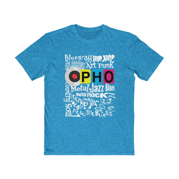 opho Music Genre Mens Semi Slim Fit T-Shirt Blue