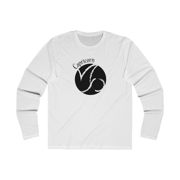 Capricorn Zodiac Mens Slim Fit Long Sleeves T-Shirt White