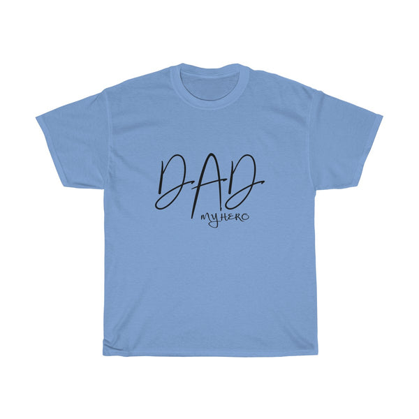 Dad My Hero Without Moustache Mens Classic Fit T-Shirt (Light Colored) Blue